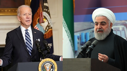 Joe Biden and Hassan Rouhani
