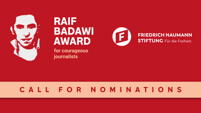 Raif Badawi Award Call for Nominations