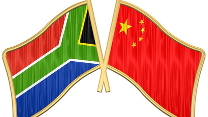 China Südafrika Flagge